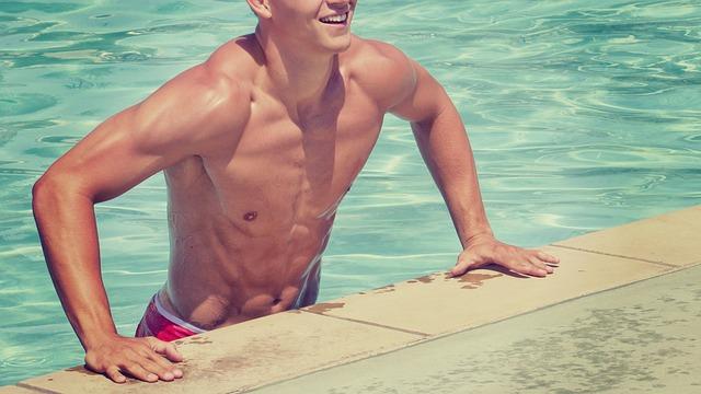 lezení z bazénu