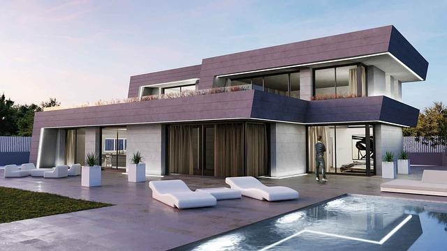 pasivní dům s bazénem