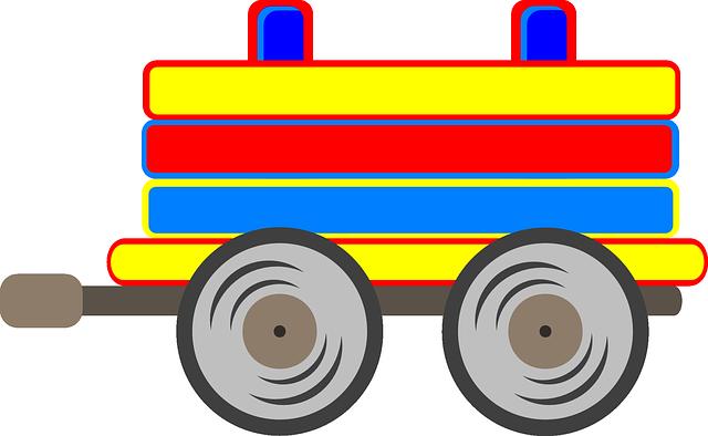 dřevěné tahací auto