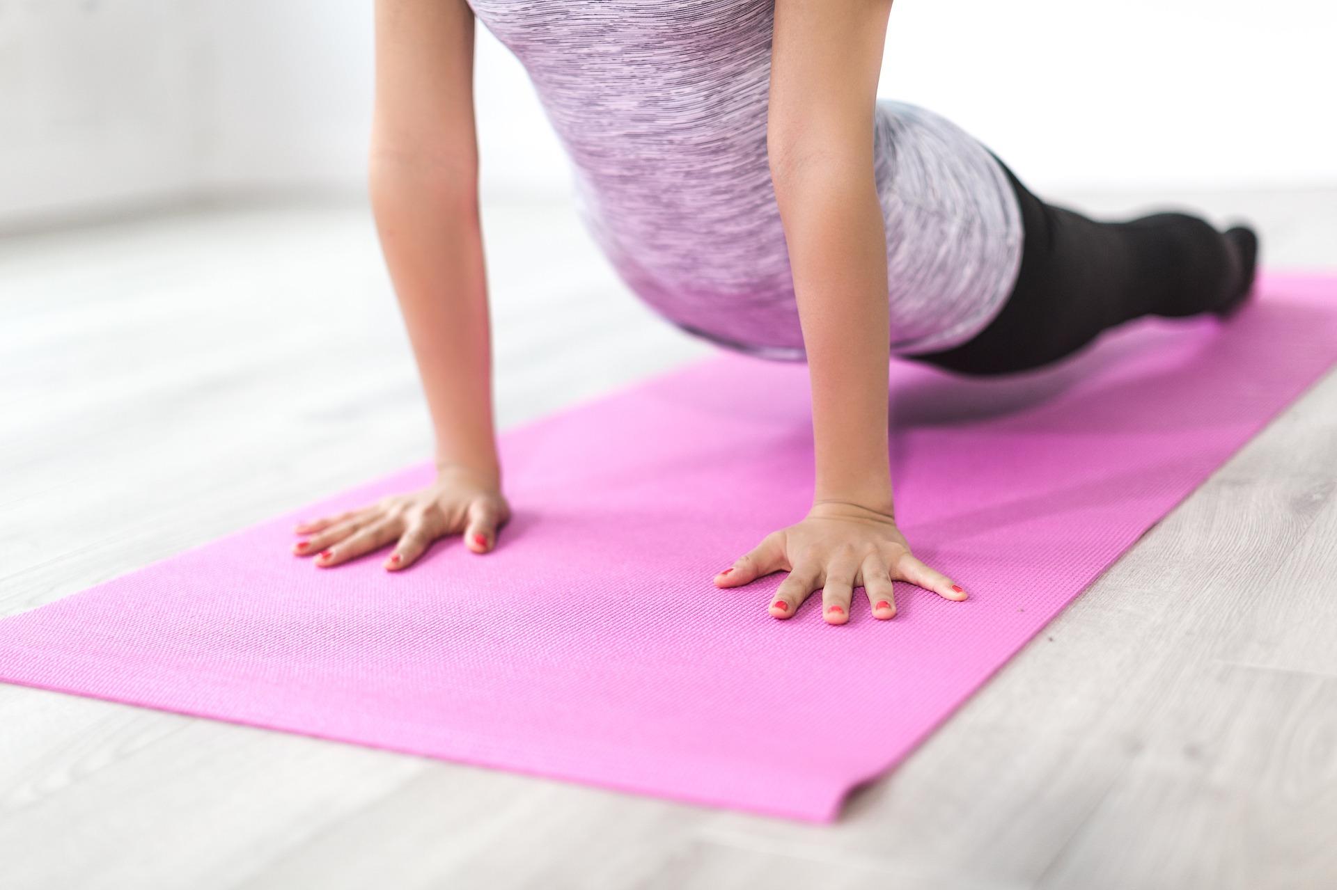 Podložky pro pohodlnější jógu nebo protahování